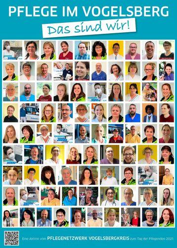 Pflege zeigt Gesicht  eine Aktion zum Tag der Pflege am 12.05.2021
